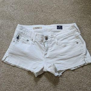 White AG denim shorts